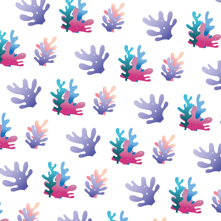 exotic seaweed nature plant background vector illustration
