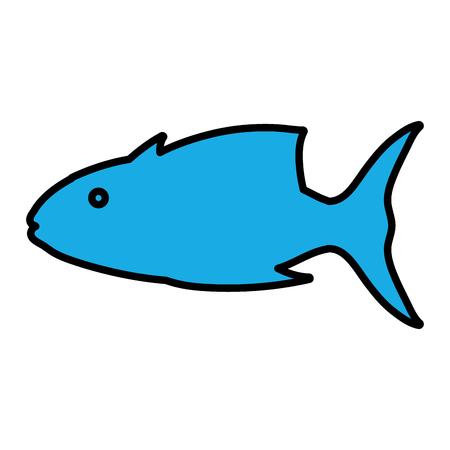 color tropical tuna fish nature animal vector illustration