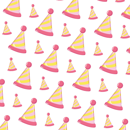 party hat line decoration background vector illustration