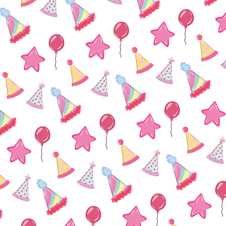 birthday party celebration and decoration background vector illustration Illustration