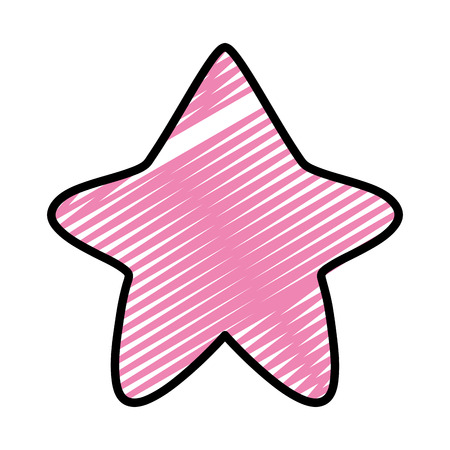 doodle nice star art shape design vector illustration Standard-Bild - 111593305