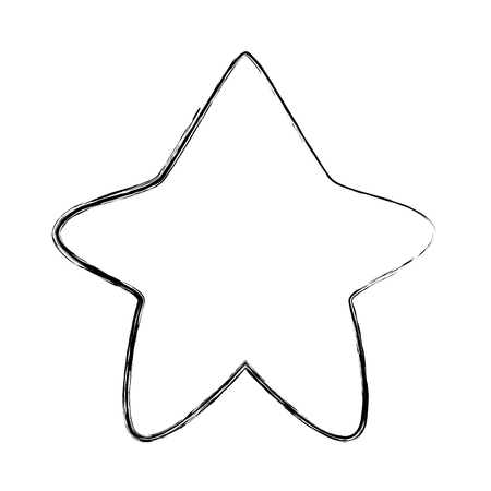 grunge nice star art shape design vector illustration