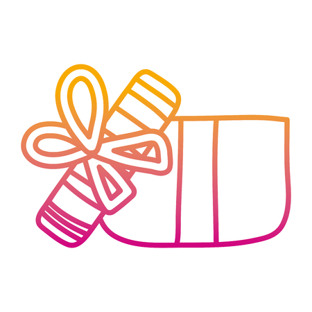 degraded line open present gift box style vector illustration