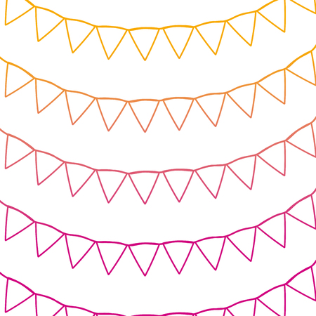degraded line party flags event celebration background vector illustration