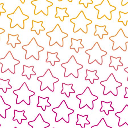 degraded line nice star art shape background vector illustration