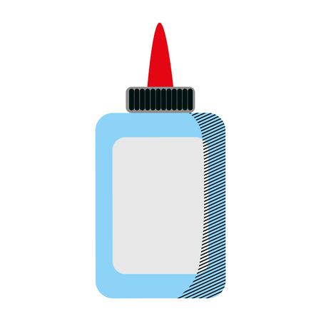 glue bottle school utensil style vector illustration Ilustração