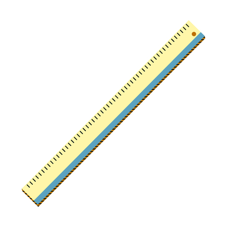 plastic ruler education school utensil vector illustration Ilustração