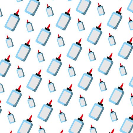glue bottle school utensil background vector illustration Ilustração