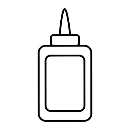 line glue bottle school utensil style vector illustration Ilustração