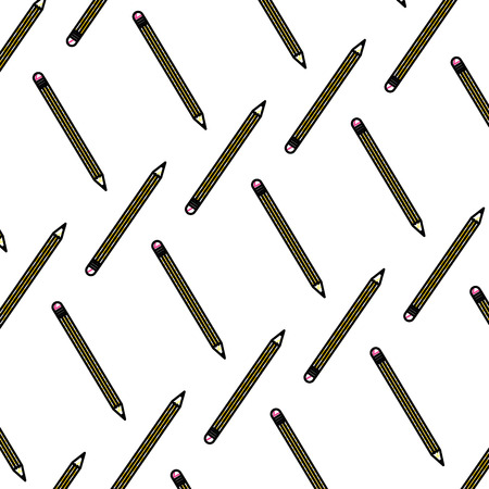 doodle wood pencil object school background vector illustration