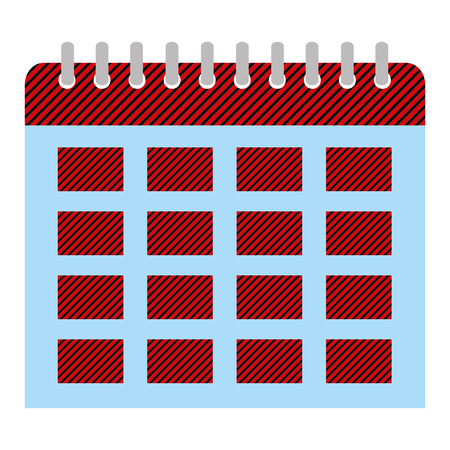 organizer calendar to important event day vector illustration