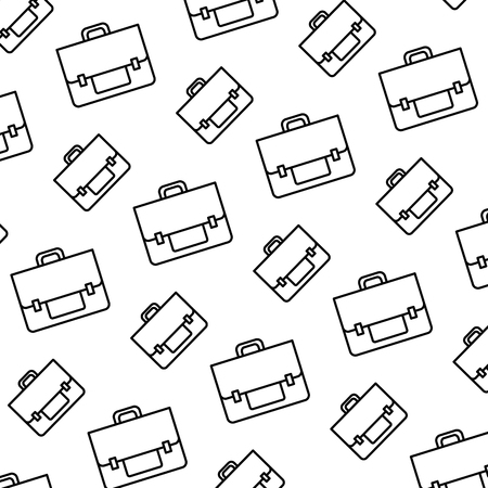 line business briefcase object style background vector illustration