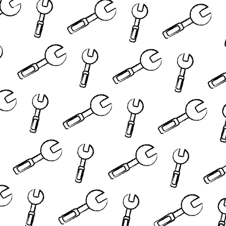 grunge wrench equipment industry repair background vector illustration