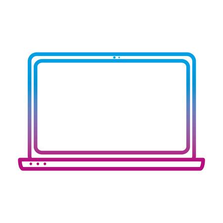 degraded line electronic laptop technology object service vector illustration