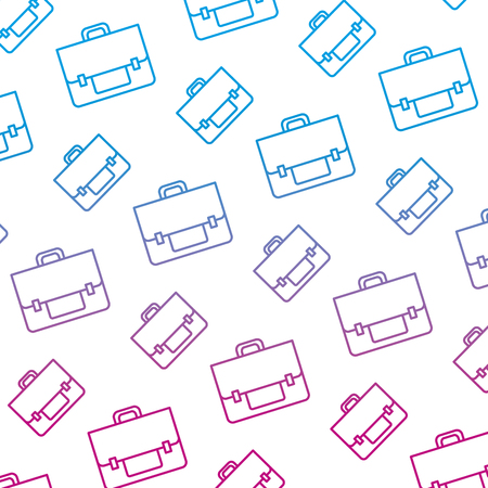degraded line business briefcase object style background vector illustration Illustration