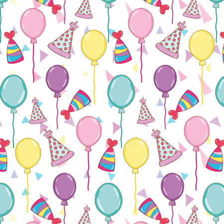 happy birthday party celebration background vector illustration Illustration