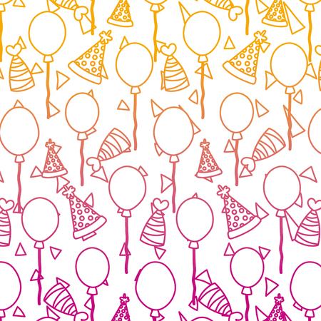 degraded line happy birthday party celebration background vector illustration Иллюстрация
