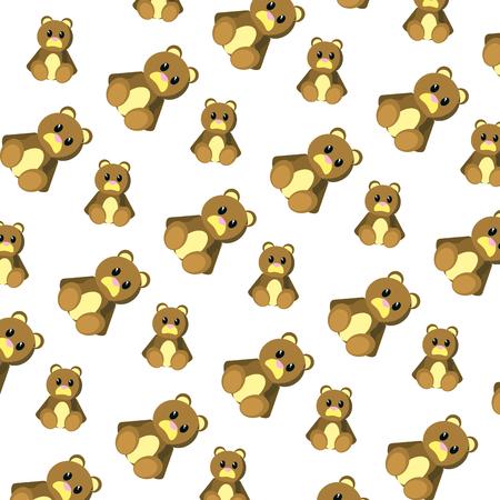 bear teddy cute toy background vector illustration