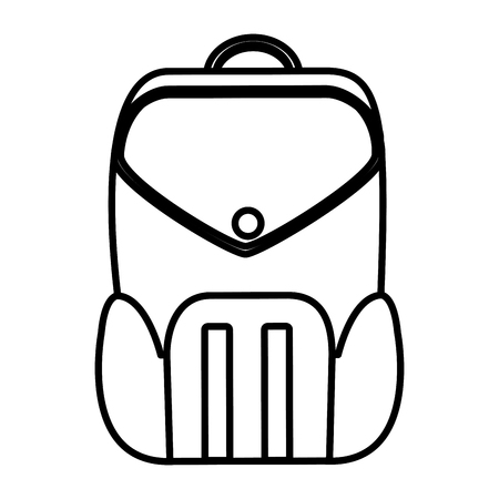line education backpack school tool design vector illustration Stock Illustratie
