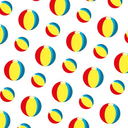 plastic ball beach toy background vector illustration Illustration