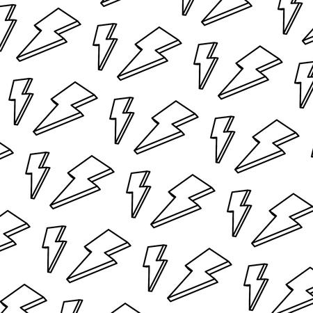line nice light thunder art background vector illustration