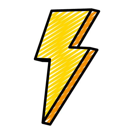 doodle nice light thunder art design vector illustration