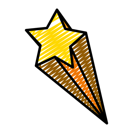 doodle nice shooting star art design vector illustration
