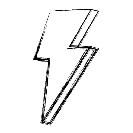 grunge nice light thunder art design vector illustration Illustration