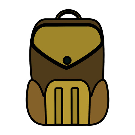 color education backpack school tool design vector illustration