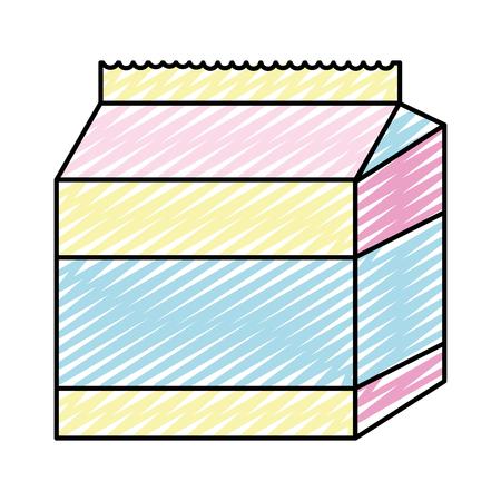doodle healthy milk box fresh drink vector illustration Standard-Bild - 111497863