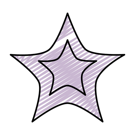 doodle light star art sky design vector illustration Иллюстрация