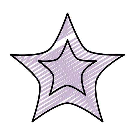 doodle light star art sky design vector illustration Illustration