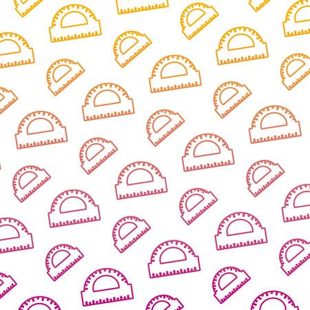 degraded line conveyor ruler school utensil background vector illustration