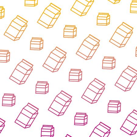 degraded line healthy milk box drink background vector illustration