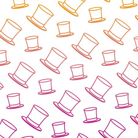 degraded line carnival hat party festival background vector illustration Ilustracja