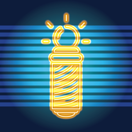 Barbershop neon light sign advertising vector illustration graphic design