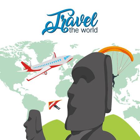 Travel the world Illustration