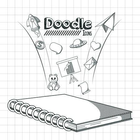 Kids doodle icons