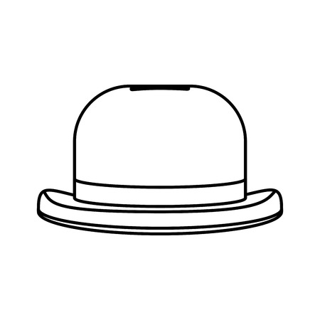 line fashion hat object carnival style vector illustration