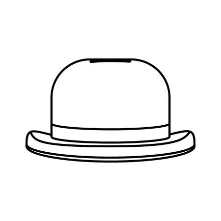 line fashion hat object carnival style vector illustration Illustration