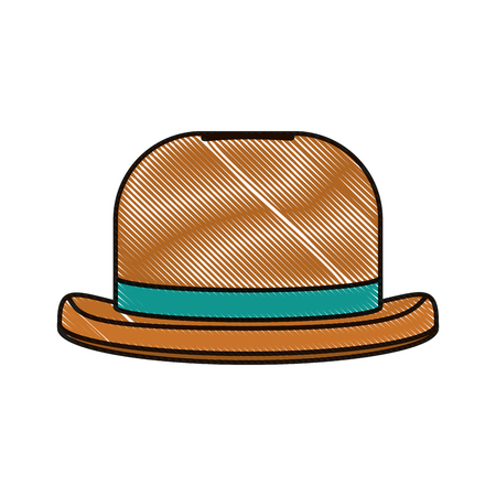 doodle fashion hat object carnival style vector illustration