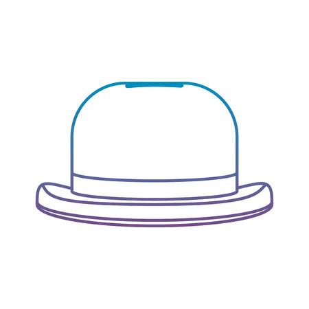 degraded line fashion hat object carnival style vector illustration Illustration