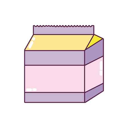 fresh milk box healthy product vector illustration Illustration