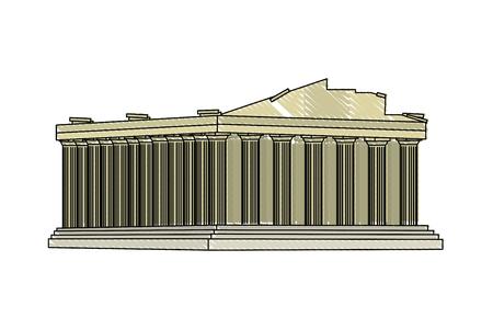 doodle medieval athens architecture clastle design