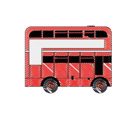 doodle london bus urban city transport