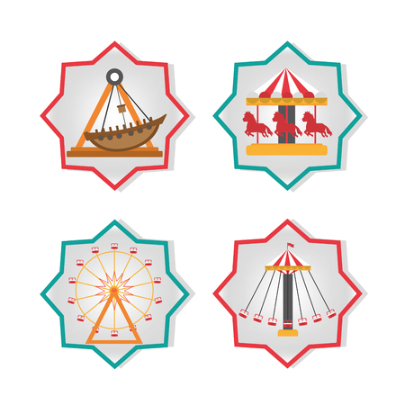 Set of carnival icons collection vector illustration graphic design
