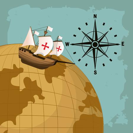 Concept de jour de Columbus