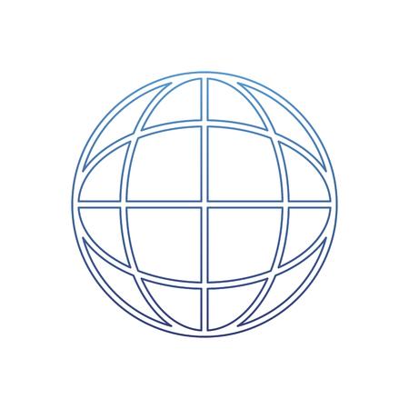 Illustration vectorielle de contour dégradé connexion de données réseau numérique mondial