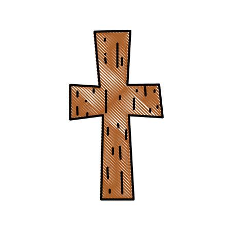 grated religion wood cross catholic symbol