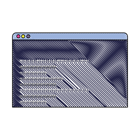 grated website programming technology data code vector illustration